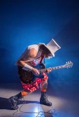 Guitarist unusual in shorts
