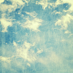 scratched cloud and sky background