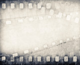 Fototapety grunge scratched film strip background