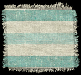 Striped flap burlap texture, piece of natural material