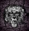 Абстрактная голова животного на фоне резкой земли