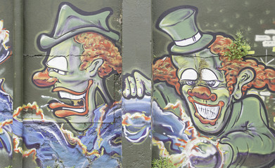 Clowns graffiti