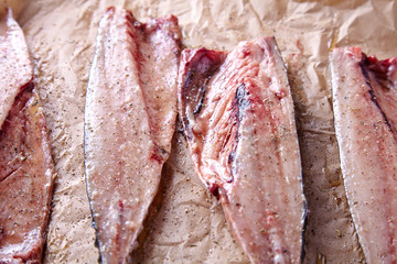 Mackerel fish fillets with spices