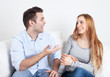Young couple in discussion