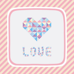 Triangle pattern love card1
