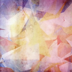 Abstract grunge colorful paper background, cubism
