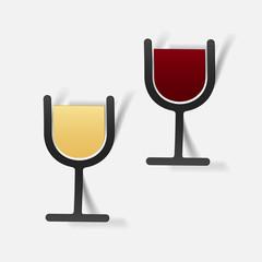 realistic design element: wine