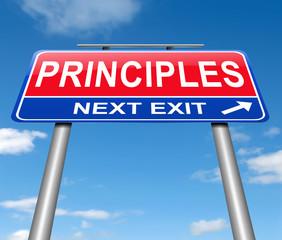 Principles concept.
