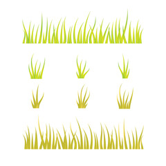 Collection of grass templates - green and yellow