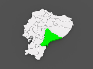 Map of Morona Santiago. Ecuador.