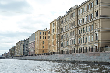 Houses in St. Petersburg on river Fontanka
