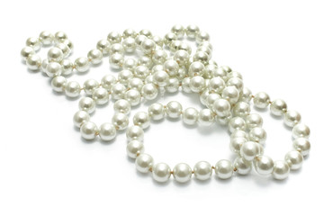 Pearl Necklace isolated on white