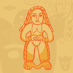 vector Permian bronze gods goldbaba