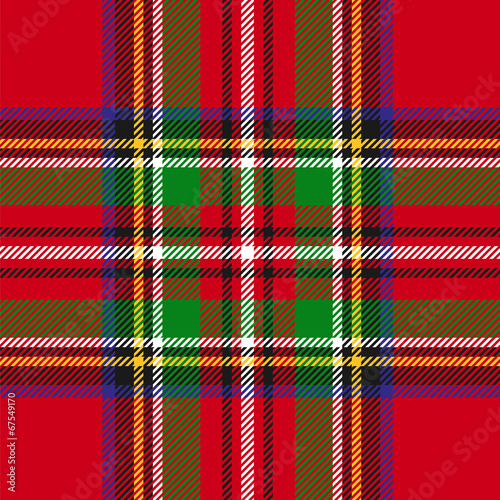 vector seamless tartan plaid pattern - 67549170