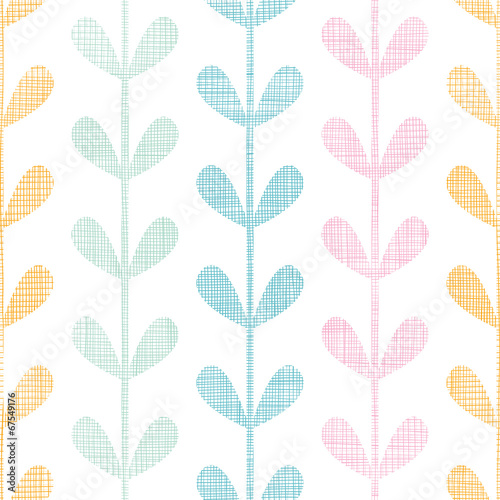 Abstract textile colorful vines leaves seamless pattern - 67549176