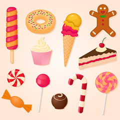 vector collection of sweets