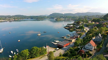 Aerial video from Fana in Bergen - Norway