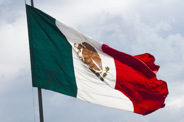 Flag of Mexico, Zocalo, Mexico City