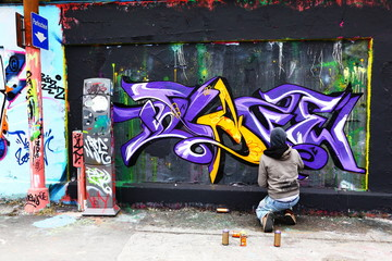 Graffiti, Sprüher, Maler, Sprayer