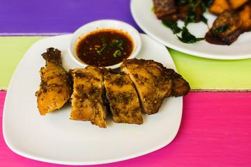 Grilled chicken coriander