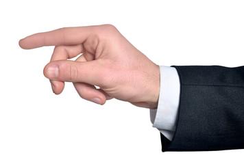 Man hand grab