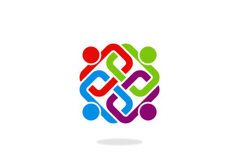 teamwork-people-hold-vector-logo