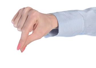 Woman hand grab
