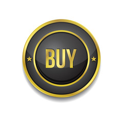 Buy Circular Vector Golden Black Web Icon Button