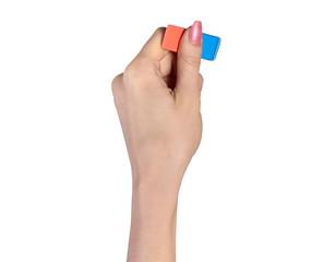 Hand with eraser