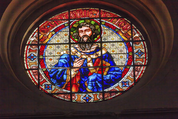 Saint Gregory Stained Glass Basilica Cathedral Andalusia Granada