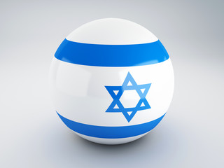 National flag of israel on sphere