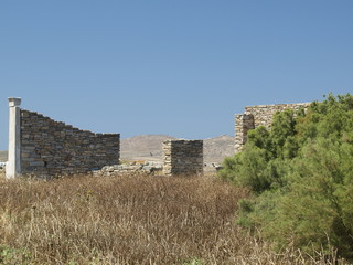 Ruined city on the island of Delos