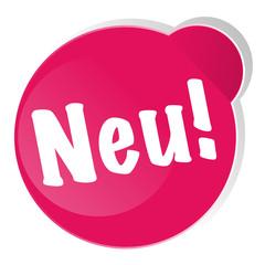 Neu! Sticker Aufkleber Button 3D Ecke