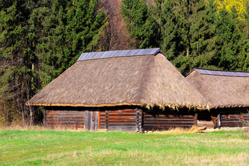 traditional ukrainian wooden house