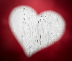 Abstract heart photo, greeting card background