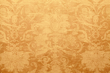 Vintage wallpaper with shabby tapestry pattern