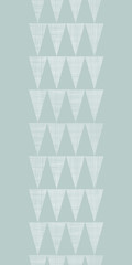 Abstract silver gray fabric textured triangles vertical seamless