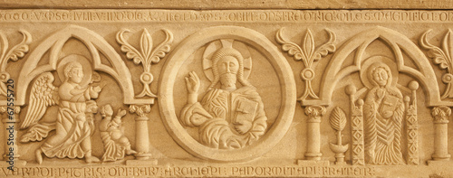 Palermo - Relief from one of the medieval tombs under cathedral