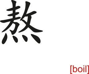 Chinese Sign for boil
