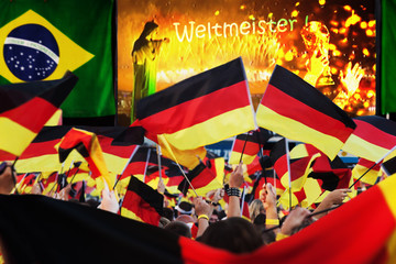 German Soccer Fans Celebrating the World Cup