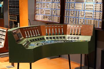 Old audio recording studio