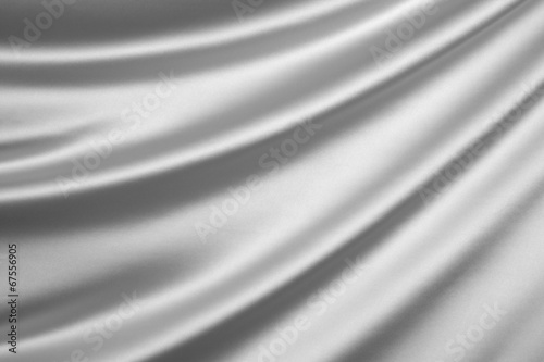 canvas print picture Silver silk textile background with copy space