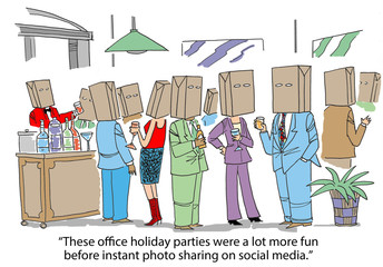 These office holiday parties were more fun before social media.