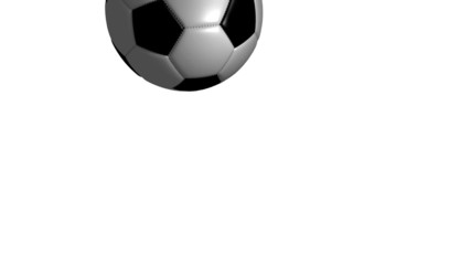 Soccer Ball Flying and Rotating