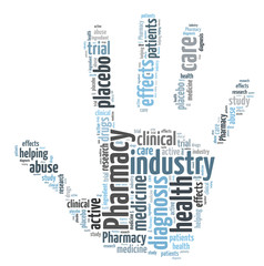 Pharmacy industry word cloud