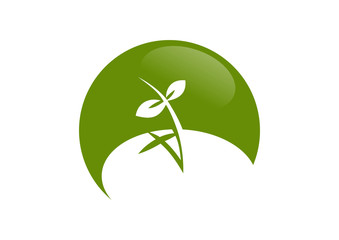 global  nature leaf cross spirit logo
