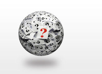 question marks 3d ball