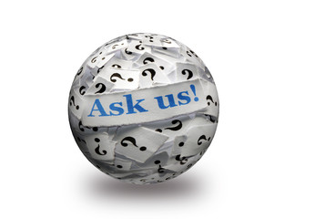 ask us questions 3d ball