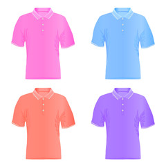 Men polo t-shirt vector illustration