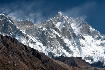 View of Lhotse from Pheriche